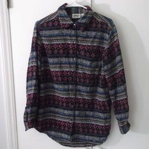 Chico's Design  Cotton Geometric Stripe Shirt 1